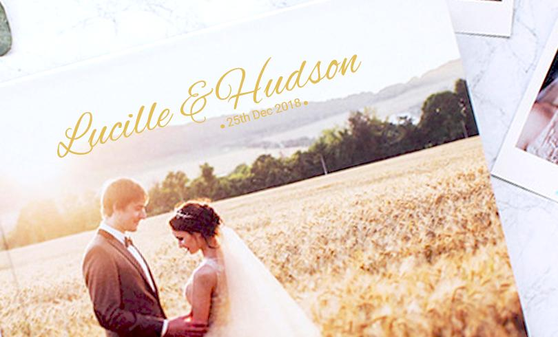 custom the design of your wedding stamping for your photobook