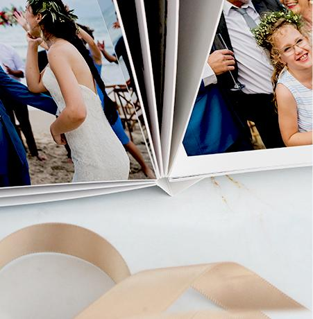 print your wedding photos in a softcover book