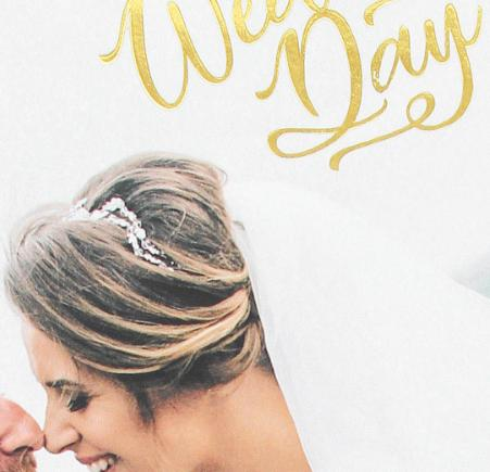 wedding photo book with stamping